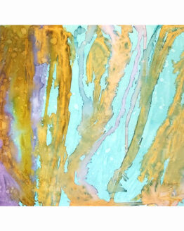 Posidonia,,imagen completa de la acuarela de Macarena Sanz